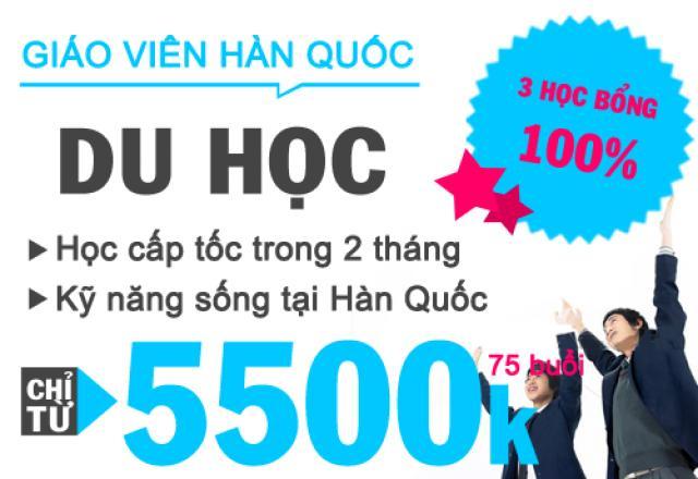 Lịch khai giảng tháng 12 - Tiếng Hàn du học cấp tốc
