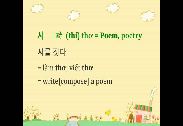 Luyện nghe từ vựng tiếng Hàn