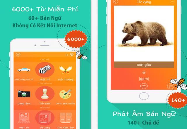 App học 6000 từ vựng tiếng Hàn