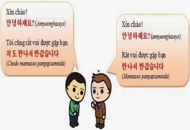 Các câu giao tiếp tiếng Hàn đơn giản nhất