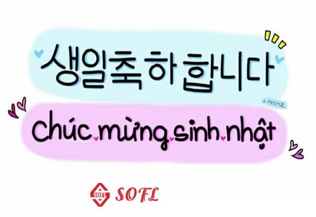 Chúc mừng sinh nhật bằng tiếng Hàn đơn giản - dễ học - ý nghĩa
